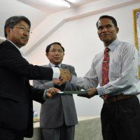 Handing Over the Certificates